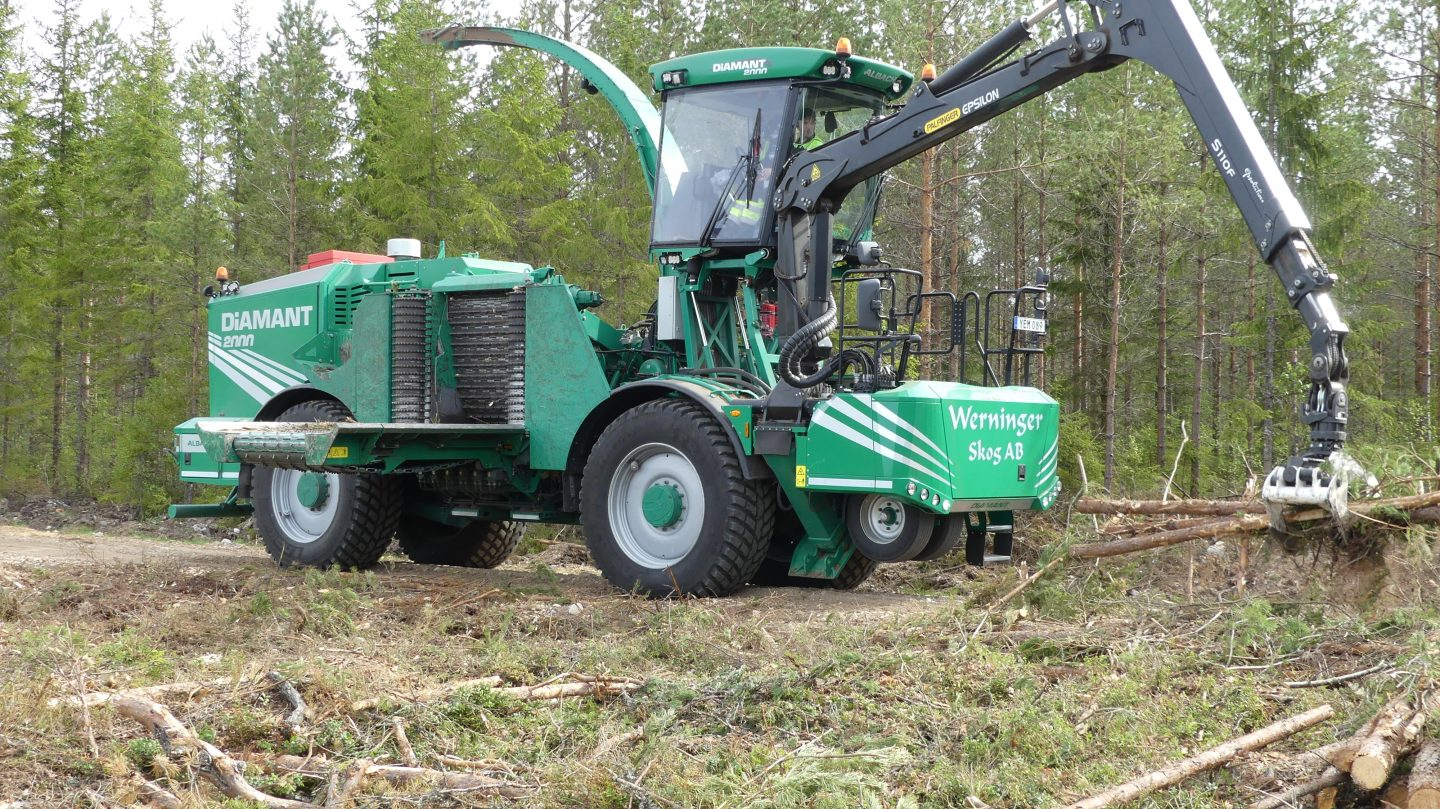 Purpose-built wood chipper from Albach