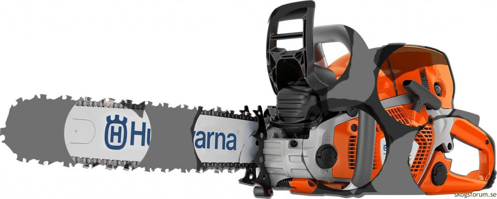 A puzzled husqvarna 572XP chainsaw