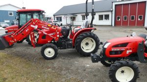 branson compact tractors at yard