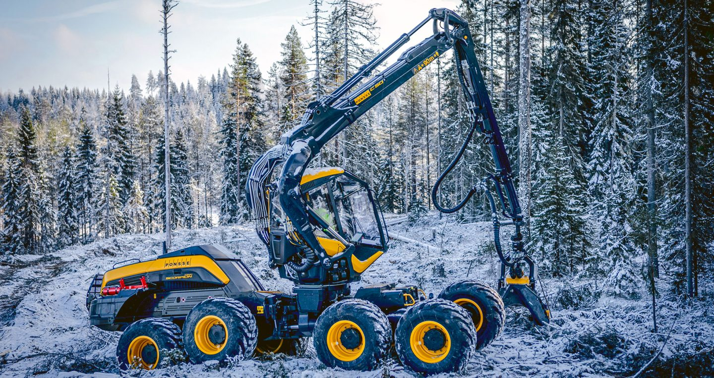 Finnish forest machine market 2017 compared to the Swedish