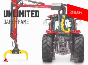 valtra with jake frame and kesla crane
