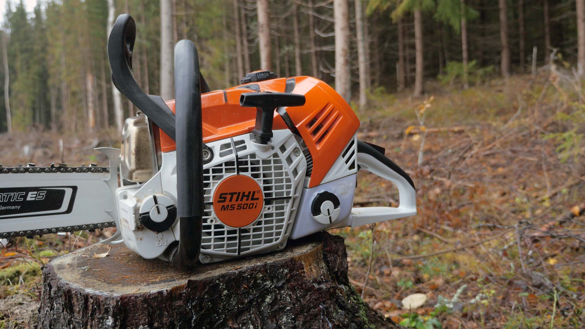 Stihl Ms 500i Test Of The First Chainsaw With Fuel