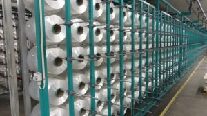1200 spools of Dyneema fibre for producing protecting fabrics