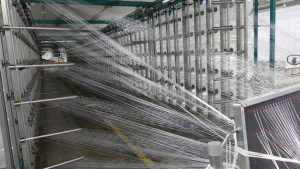 1200 thread warp for chain saw protection fabric