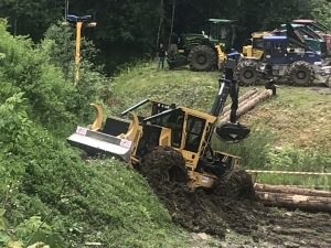 skidder tigercat stucked