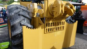skidder steelplate rear