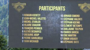 les cognees competition list