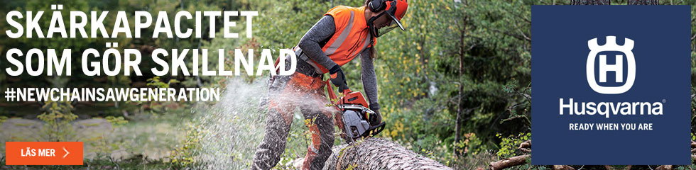 Husqvarna New generation chainsaws 2020