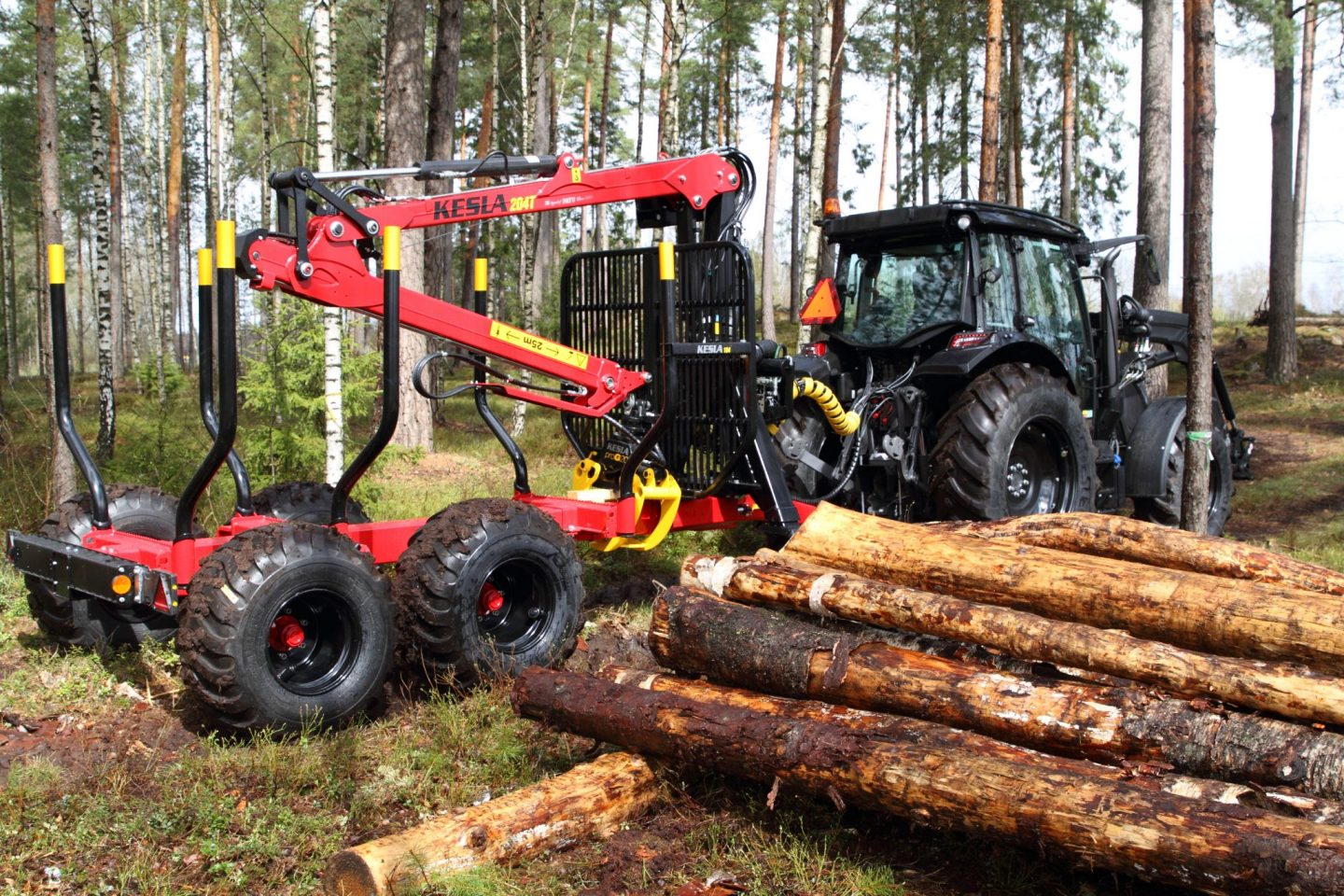 Tree farmer equipment #3 – log trailers and grapple loaders
