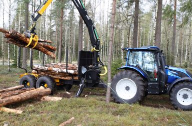log trailer grapple loader
