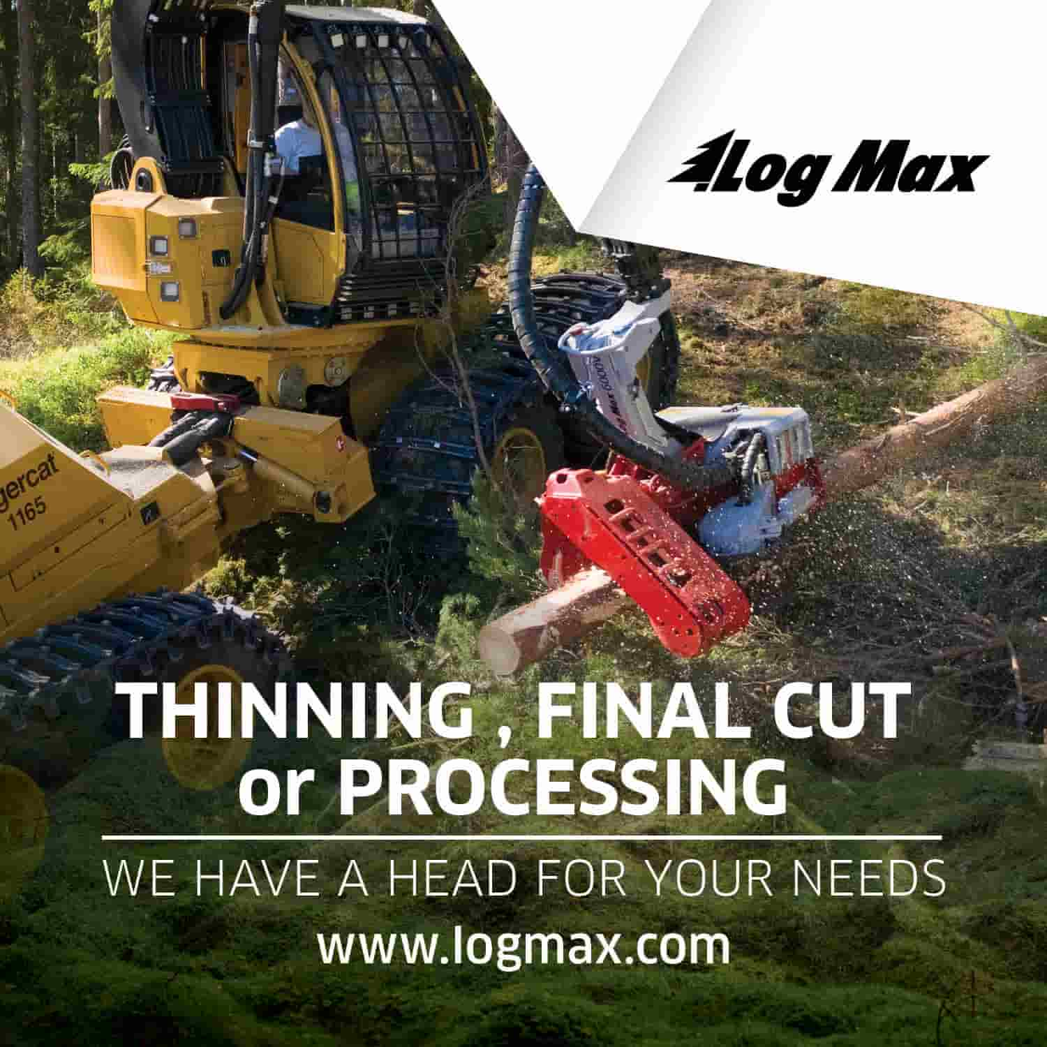 Log Max Harvester Heads