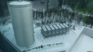 combined heating and power plant