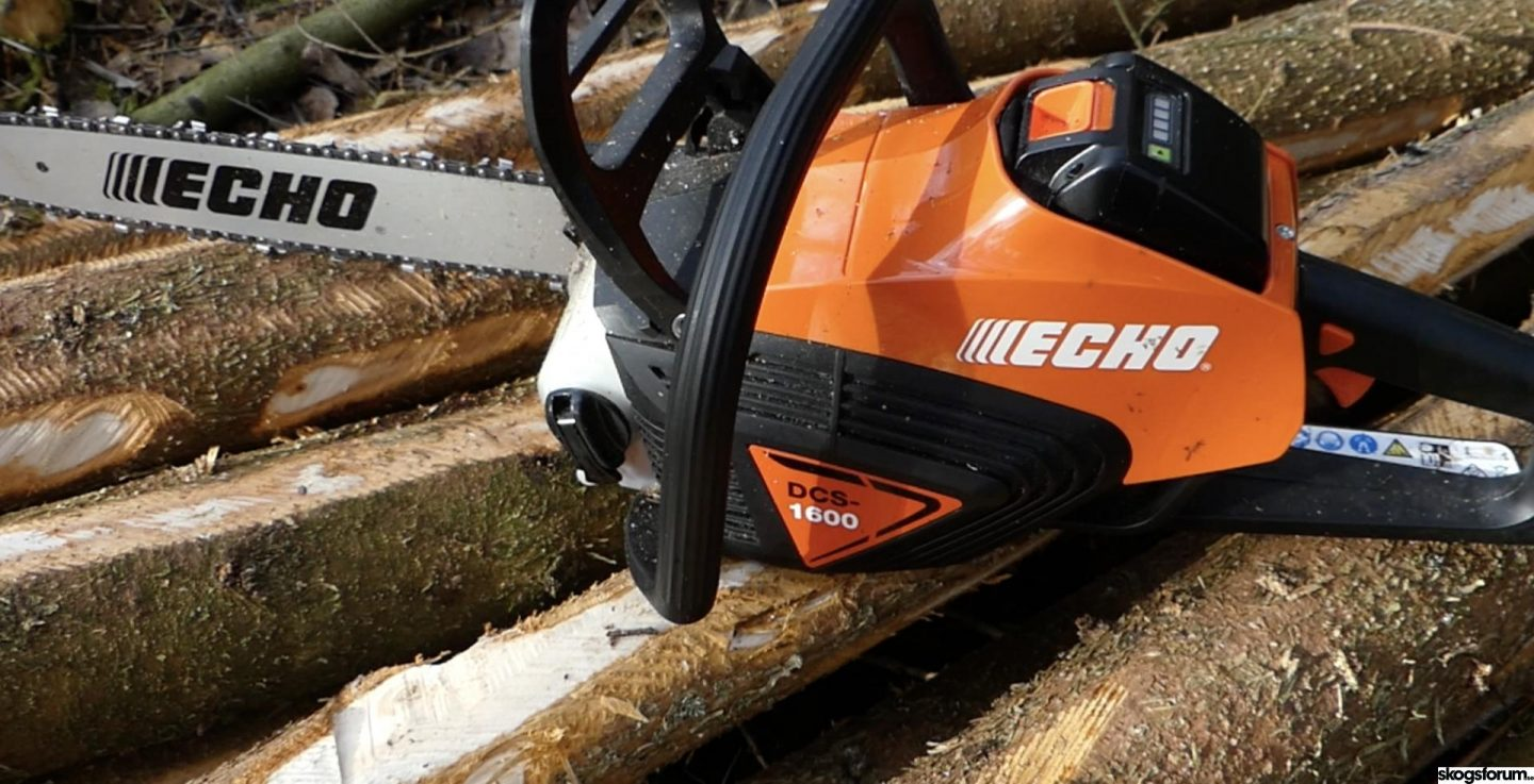 Echo DCS 1600 – a battery powered chainsaw